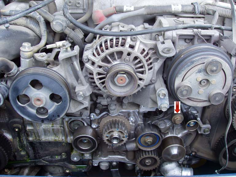 Remove the timing belt.